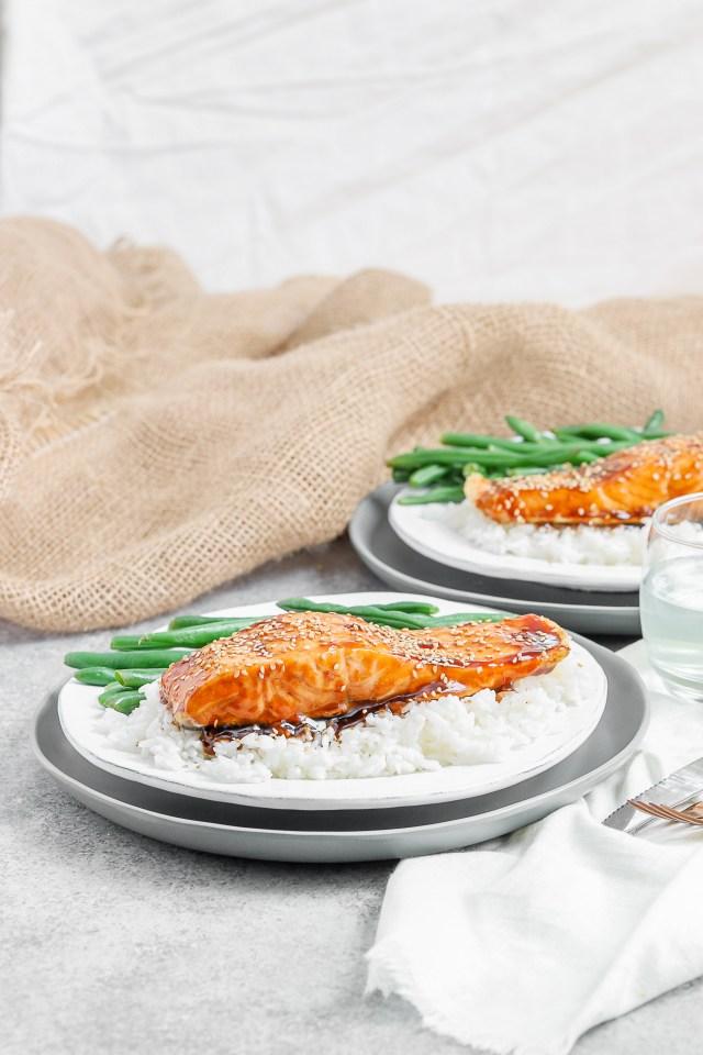 Air Fryer Maple Glazed Salmon