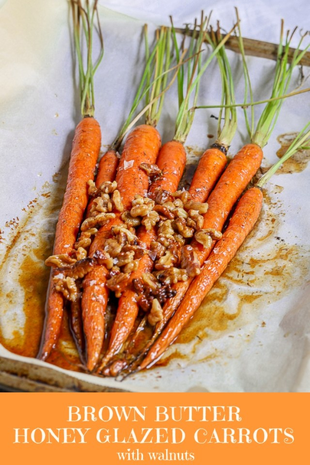 Brown Butter Honey Glazed Carrots with Walnuts