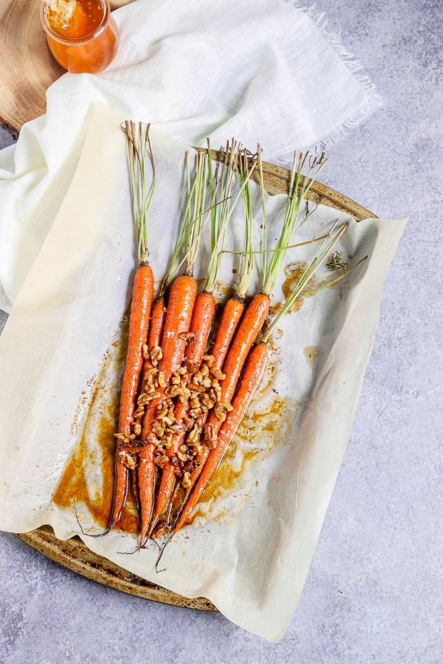 Brown Butter Honey Glazed Carrots