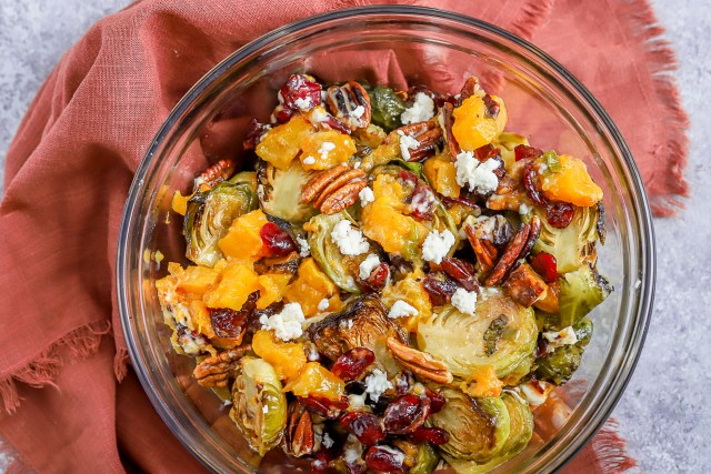 Roasted Vegetable Maple Pecan Salad