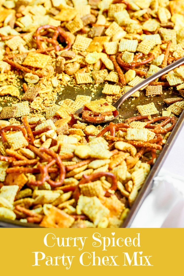 Curry Spiced Party Chex Mix