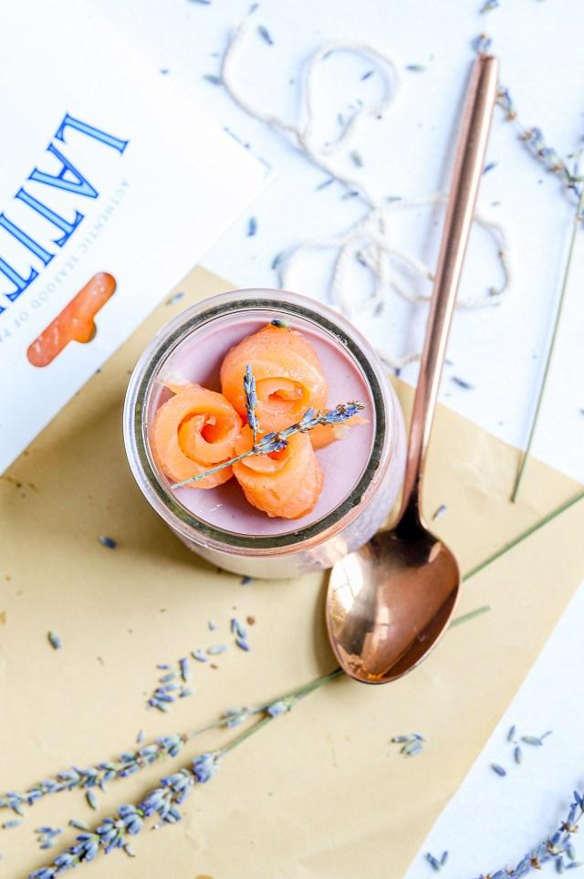 Lavender Panna Cotta with Smoked Salmon