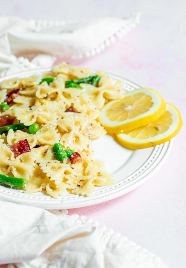 Lemon Asparagus Bowtie Pasta Salad