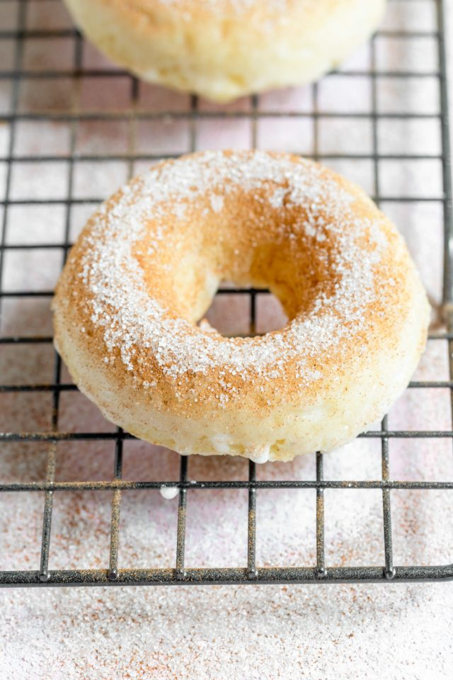 Cinnamon Sugar Sour Cream Baked Donuts