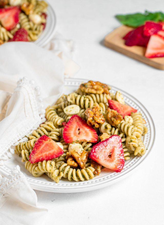 Strawberry Pesto Pasta Salad