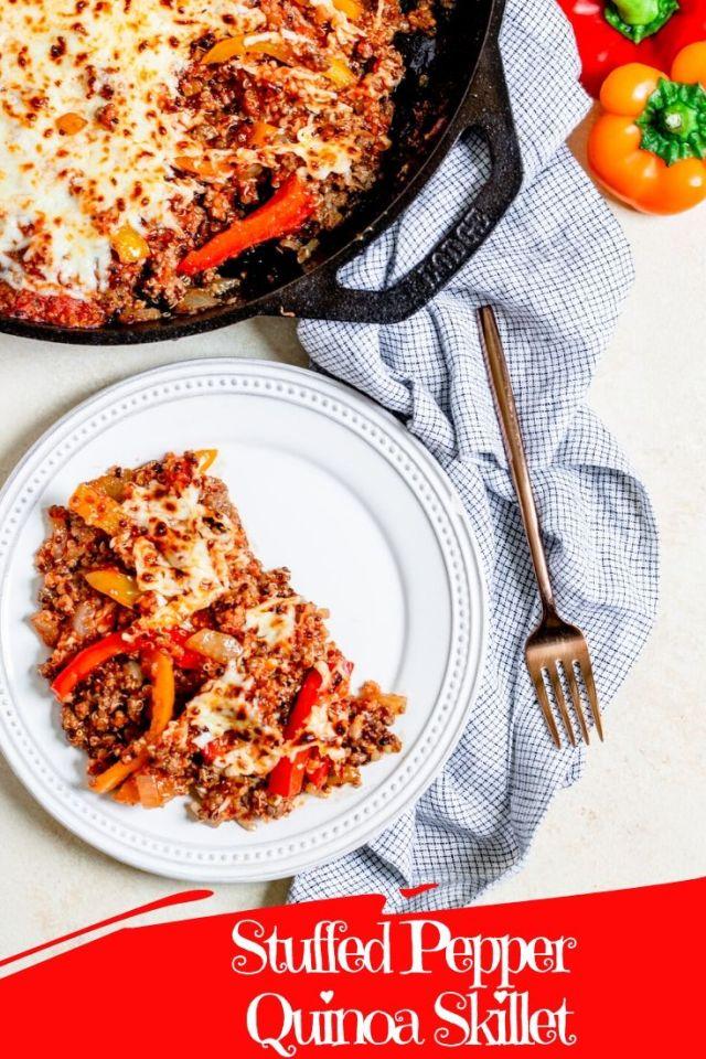 Stuffed Pepper Quinoa Skillet