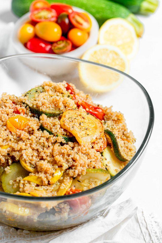 Summer Squash Quinoa Salad