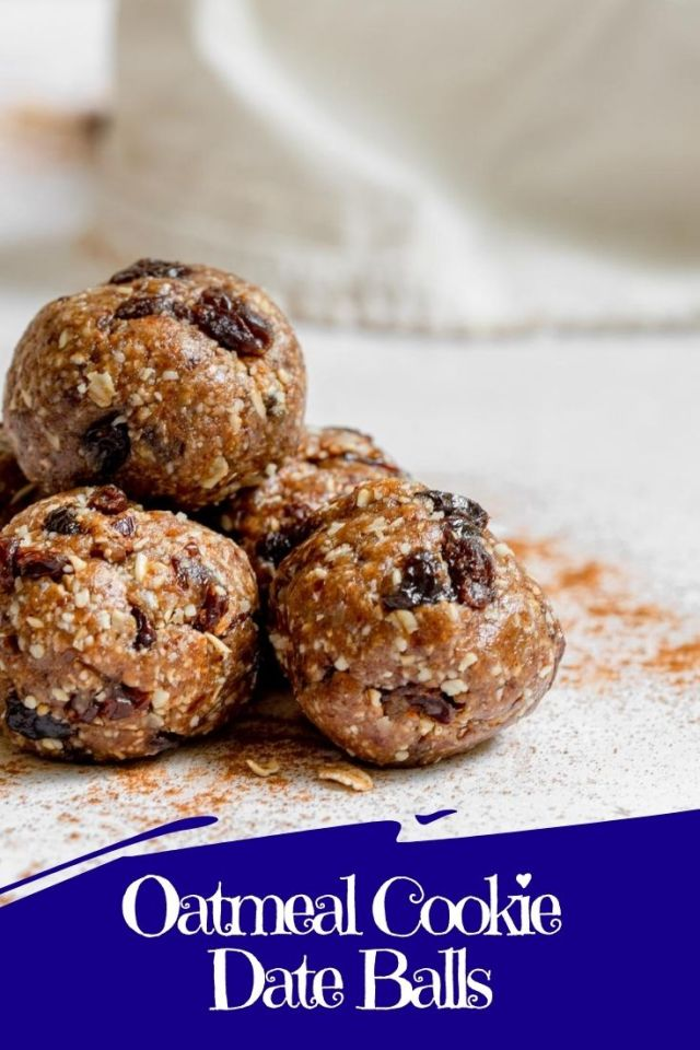Oatmeal Cookie Date Balls