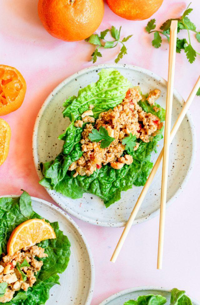 Clementine Chicken Lettuce Wrap