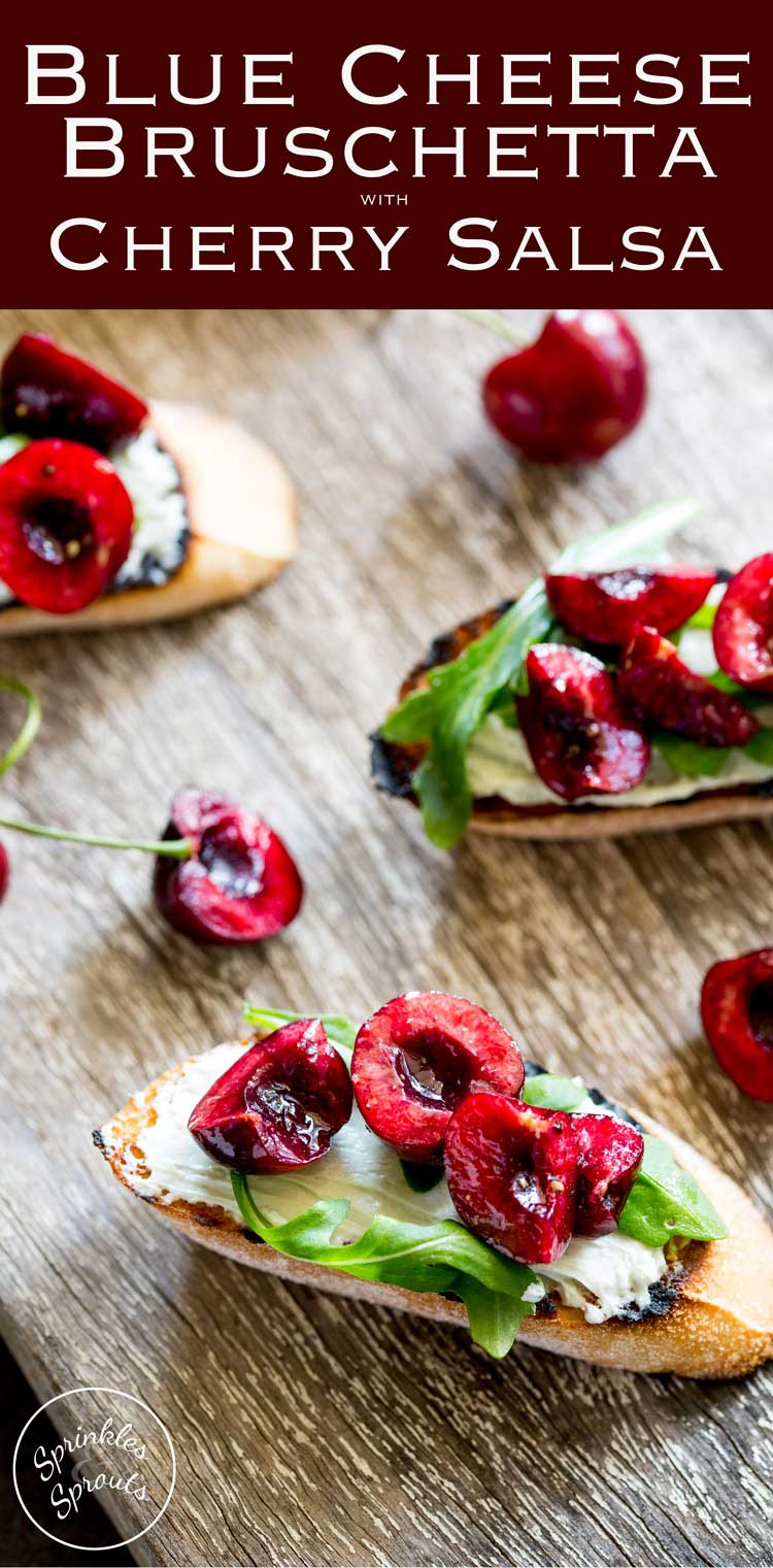 Creamy, Salty Blue Cheese, Peppery Rocket And Sweet Juicy Cherries These  Blue Cheese