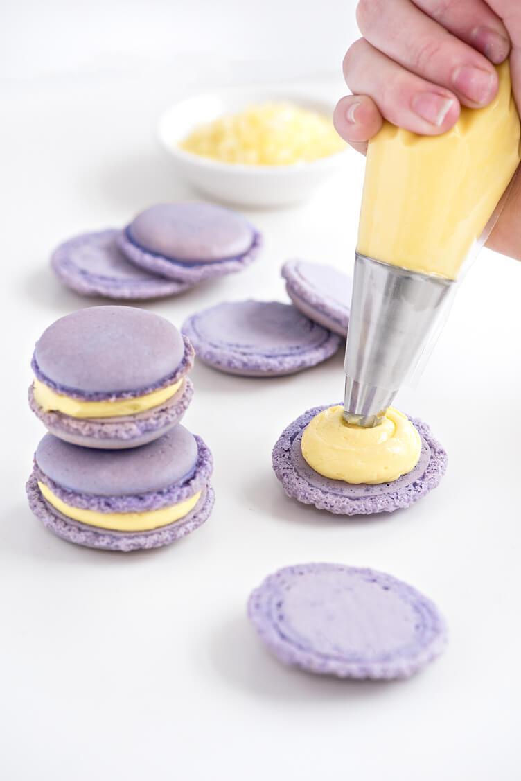 2. Lemon Lavender Macarons