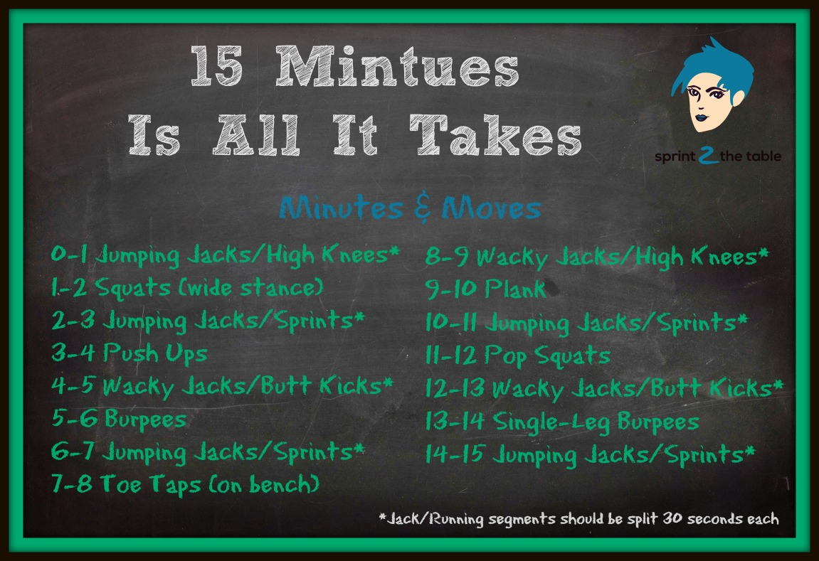 Work It Out: 15 Minutes Is All It Takes - Sprint 2 the Table