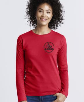 T-Shirt Woman Manica Lunga Gidan