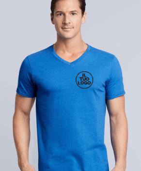 T-Shirt Scollo a V Gildan