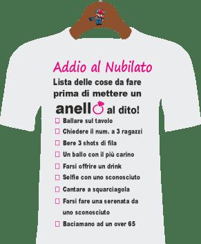 T-Shirt Addio al nubilato