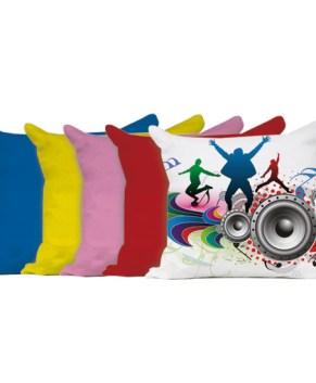 Cuscino personalizzato bicolore 39x39