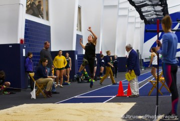 Katharine Montstream Long Jump Takeoff