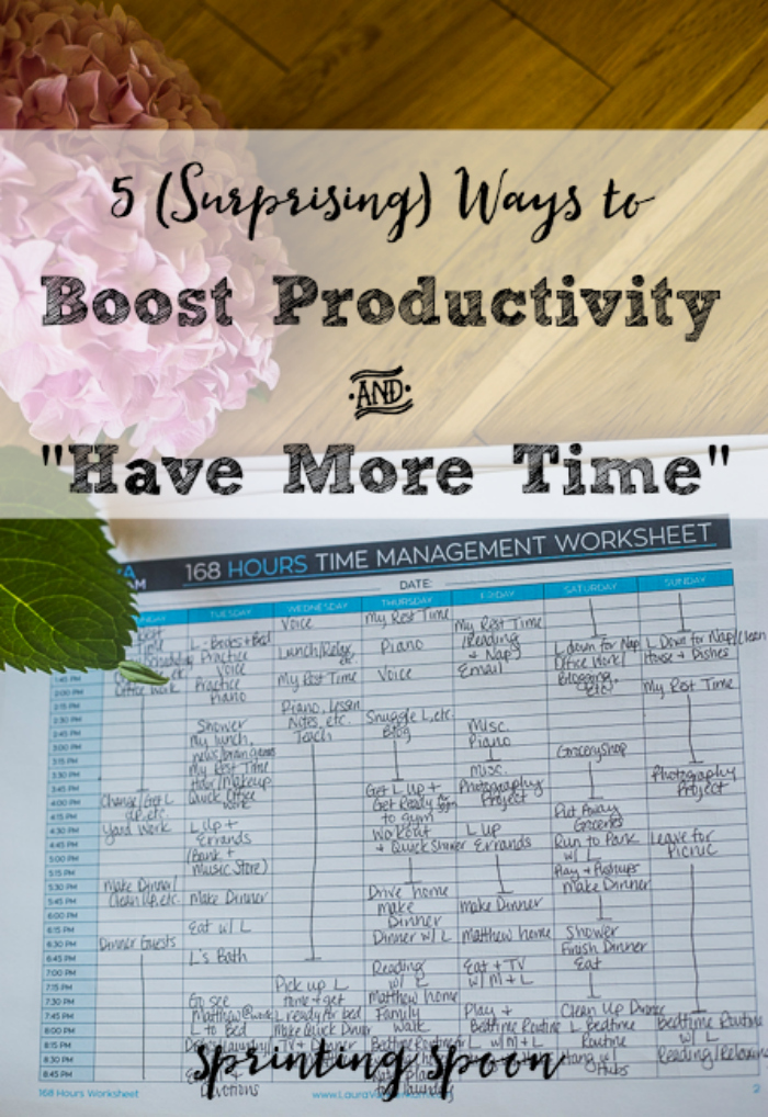 """5 Ways that I Boost Productivity and """"Have More Time"""" in my Weeks...they're not what you think!"""