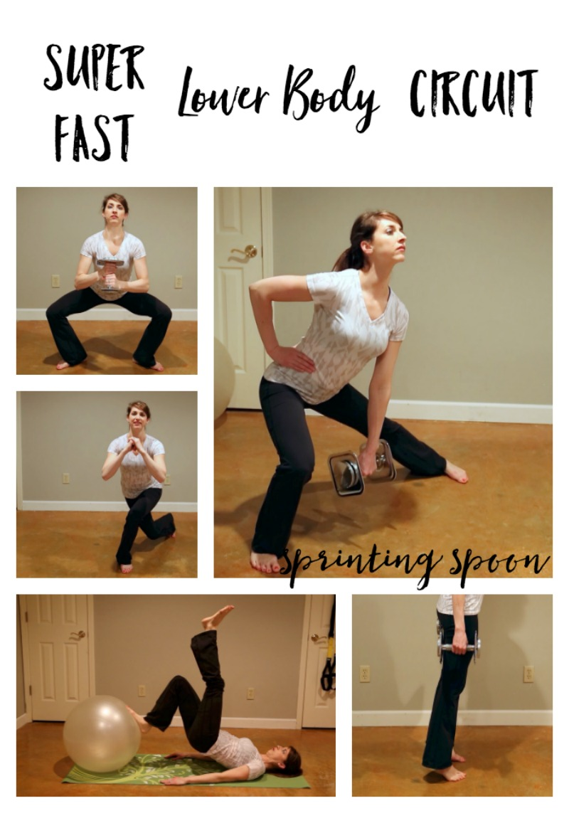 Great for a quick at-home workout!  Work every muscle of the lower body with this one, quick workout!