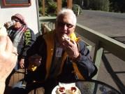 Don enjoying scones