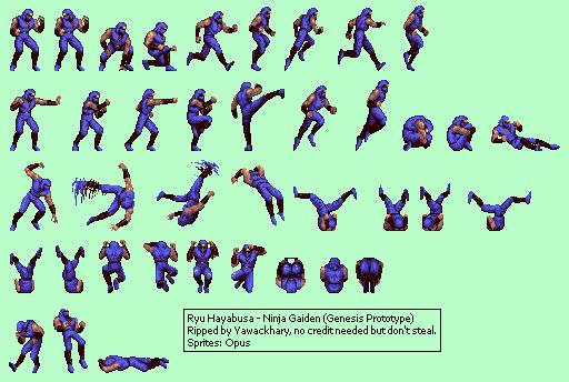 Genesis 32X SCD Ninja Gaiden Prototype Ryu