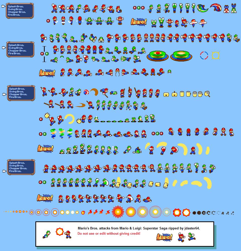 Mario Superstar Mario And Sprite Saga Luigi