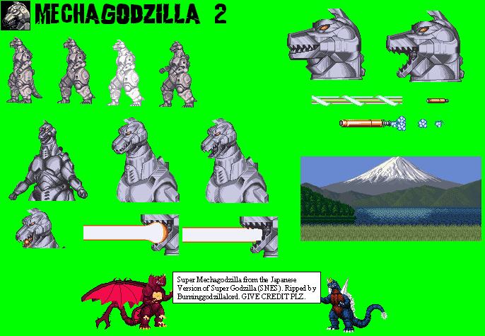 SNES Super Godzilla Mechagodzilla 2 The Spriters