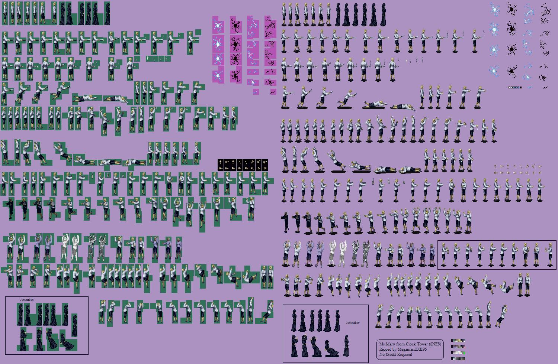 The Spriters Resource Full Sheet View Clock Tower JPN