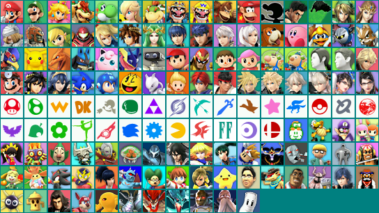 3DS Super Smash Bros For Nintendo 3DS Profile Icons
