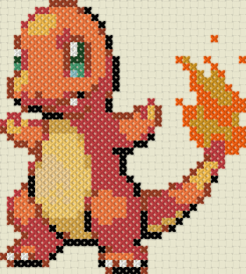 Charmander - Sprite Stitch Designs