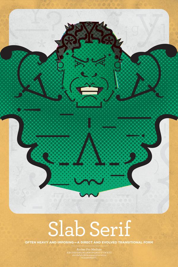 Hulk Font, Typography, Slab Serif