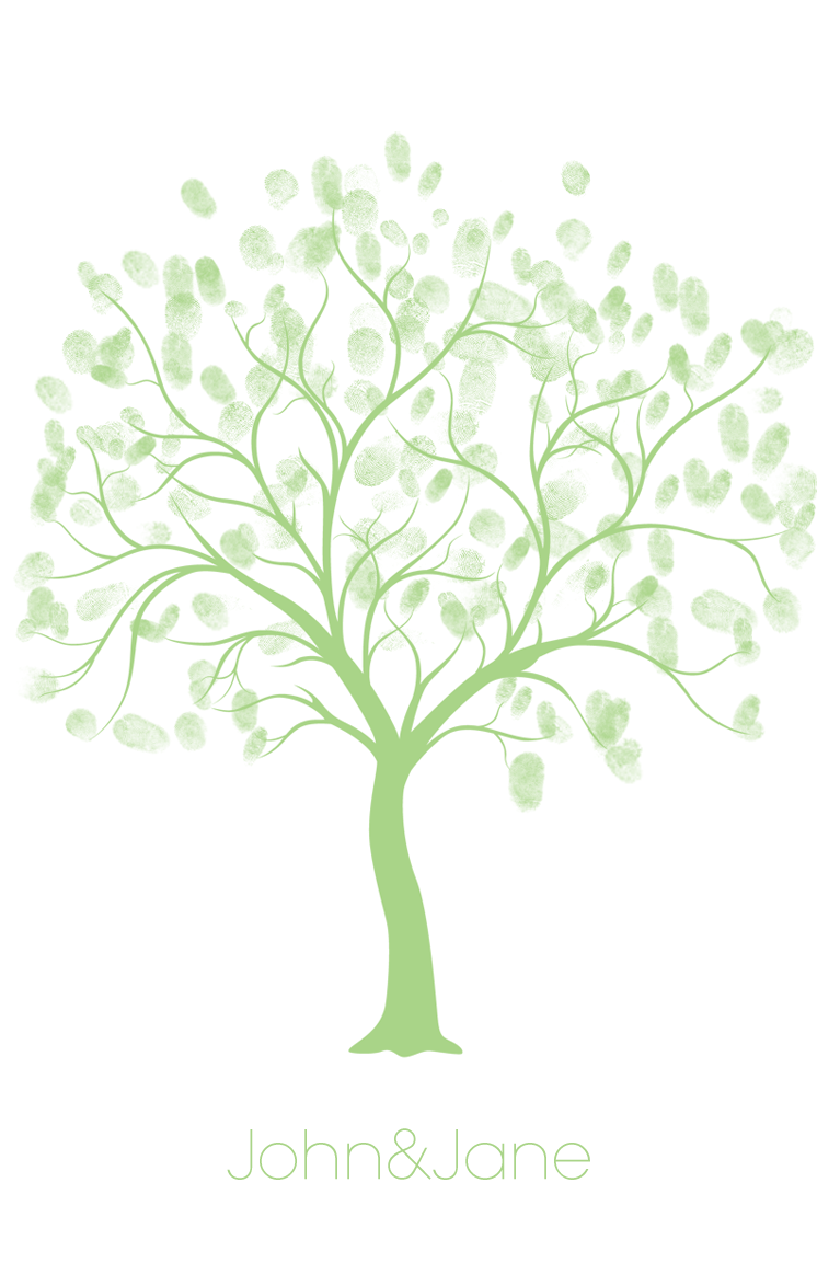 Free Wedding Thumbprint Tree Style Guest Book Thumbprint Tree Template