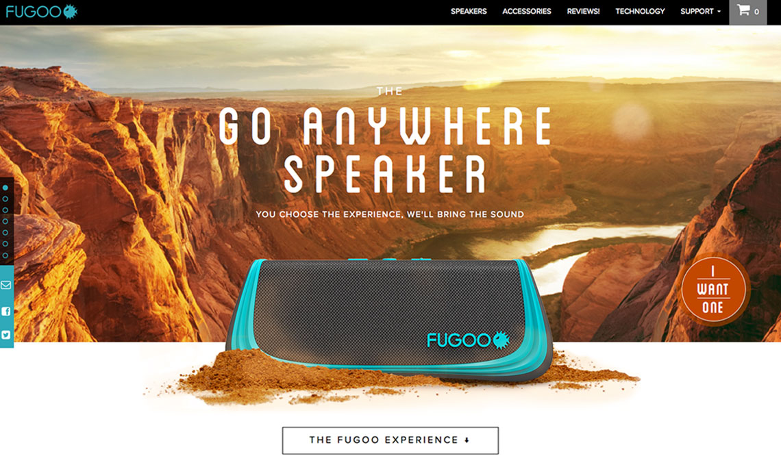 bluetooth speaker website design