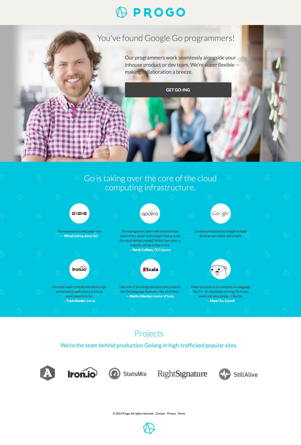 progo responsive ab test landing page
