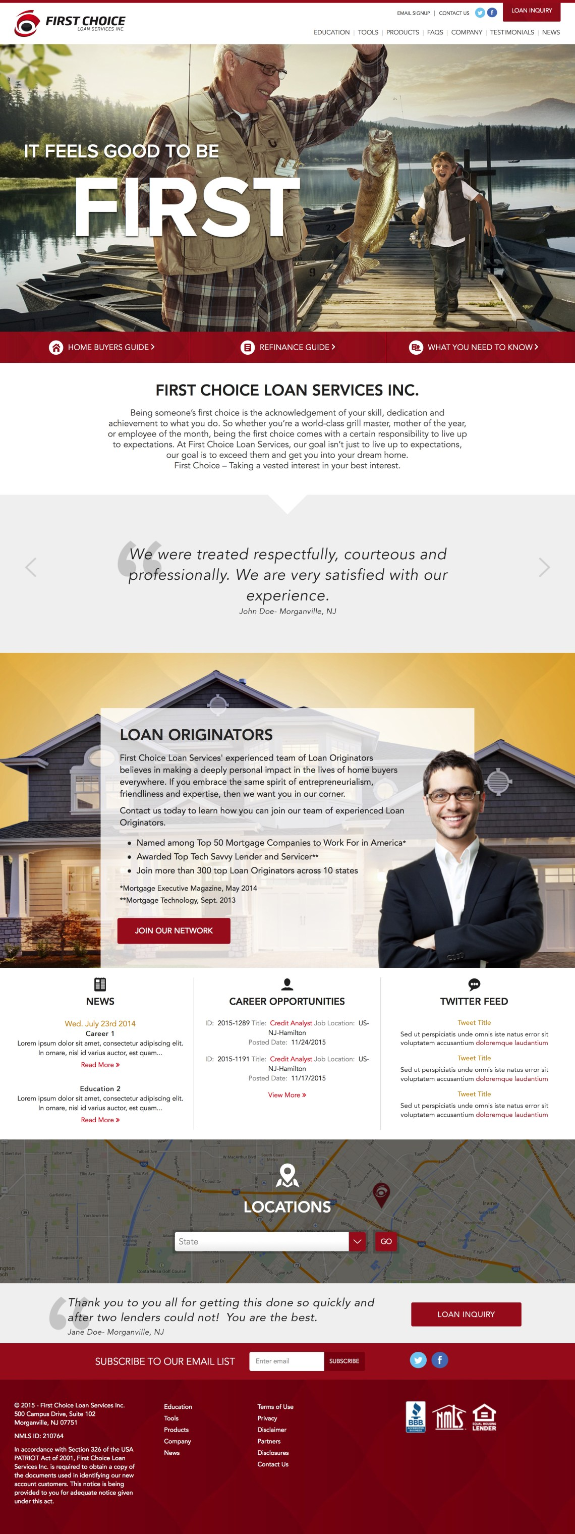 first choice lender website - development