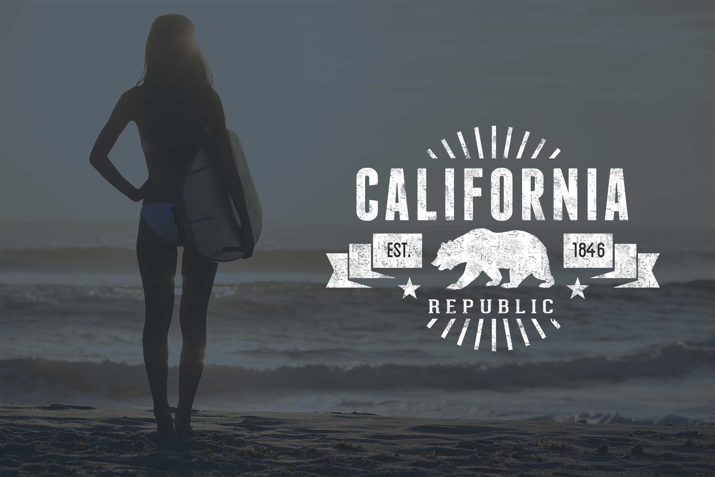 Free California Bear Flag Vector Pack California Design