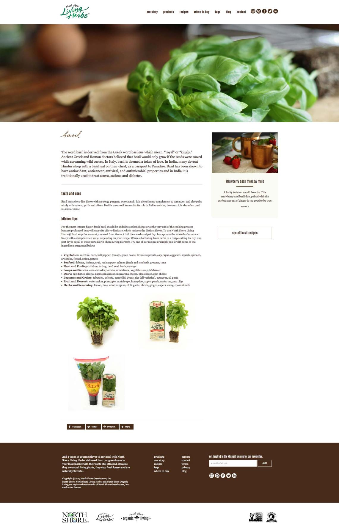 living herbs web design in thermal ca
