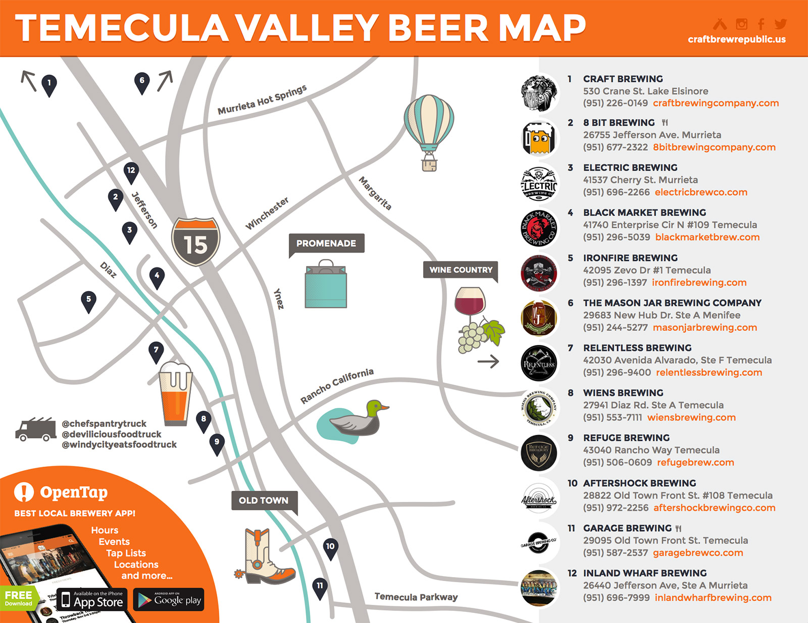 Temecula Brewery Map on Craft Brew Republic Support Your Temecula