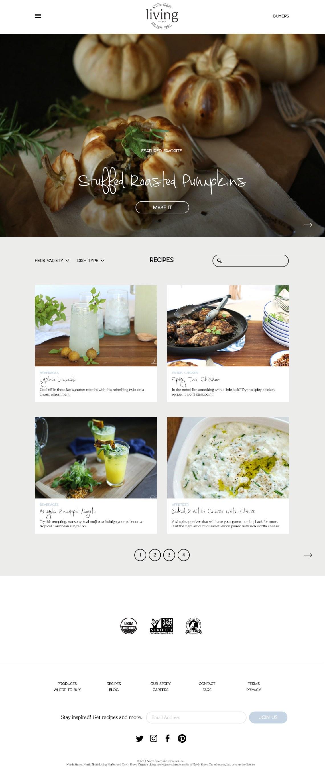 recipe blog design