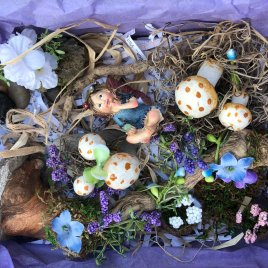 Blue Fairy Garden Kit by Sprouted Dreams (13)