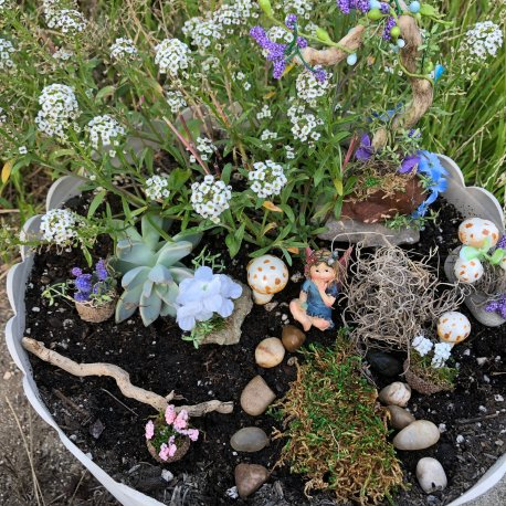 Blue Fairy Garden Kit by Sprouted Dreams (5)
