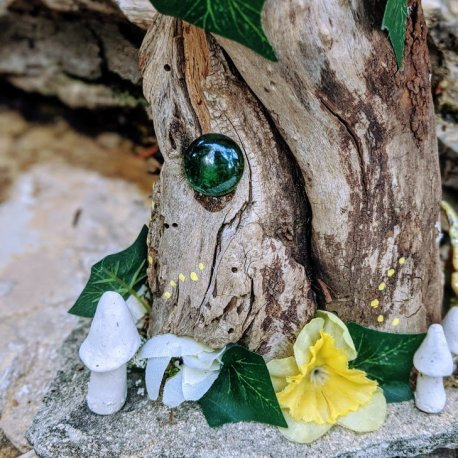touchstone on the Green Woodland Fairy House
