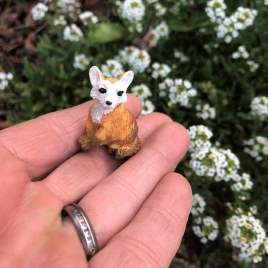 Seated Fairy Garden Fox by Sprouted Dreams (6)