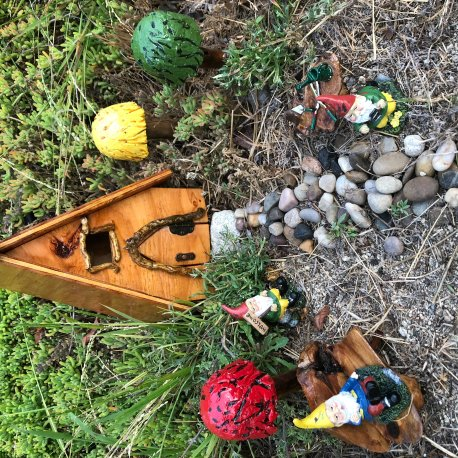 Complete Outdoor Gnome Garden handmade by Sprouted Dreams (9)