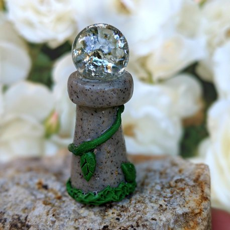 Journey's End Gazing Ball Handmade by Sprouted Dreams (E