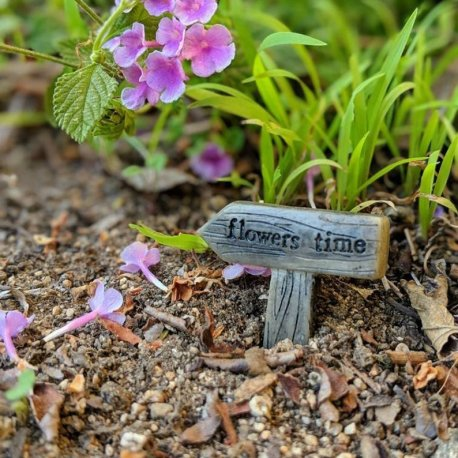flowers time Fairy GArden Sign from Sprouted Dreams2