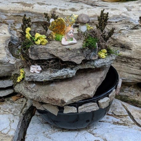 Fairy Fountain Handmade by Sprouted Dreams10