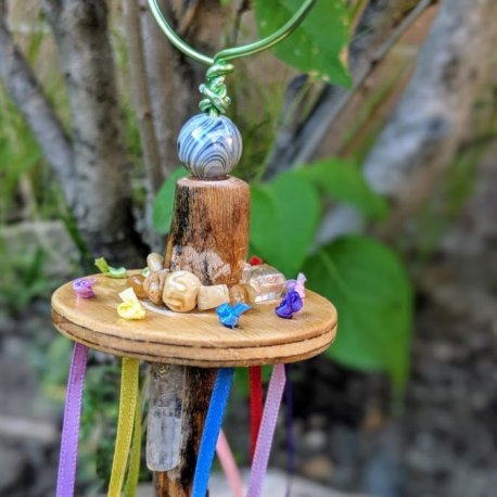 Fairy Wand-Maypole-Bubble blower handcrafted by Sprouted Dreams5