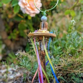 Maypole / Bubble Blower for Miniature Gardens