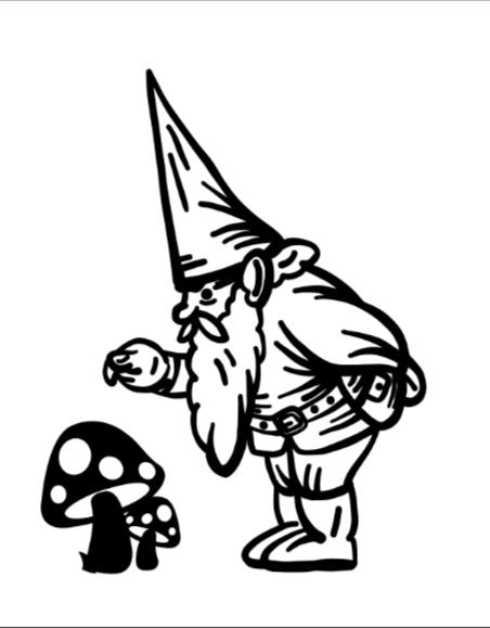 Gnome and Mushroom1